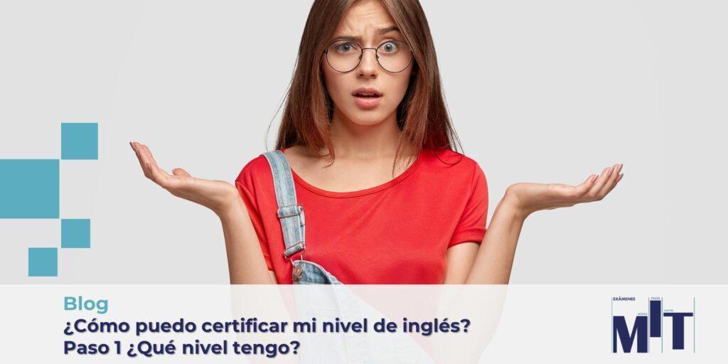 Certificar nivel de inglés